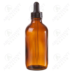 Amber Bottle with Dropper 4oz
