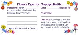 Dosage Bottle Labels